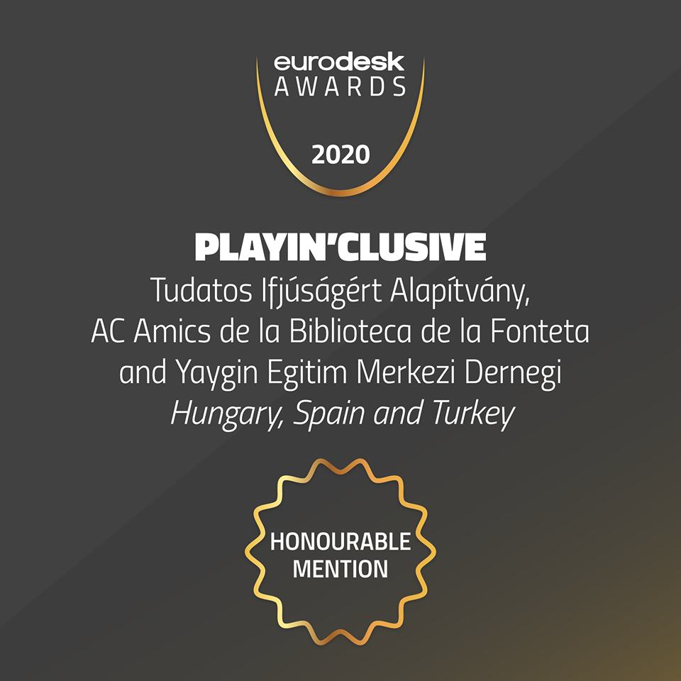 PlayIn'Clusive projektünk bekerült az európai projektek legjobbjai közé