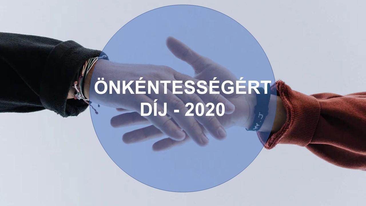 Önkéntességért Díj 2020